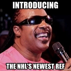 stevie wonder - Introducing the nHL's newest ref