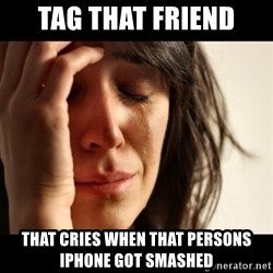 crying girl sad - TAG THAT FRIEND THAT CRIES WHEN THAT PERSONS IPHONE GOT SMASHED
