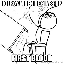 Desk Flip Rage Guy - Kilroy when he gives up first blood
