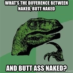 Philosoraptor - what's the difference between naked, butt naked and butt ass naked?