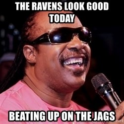 stevie wonder - The Ravens look good today Beating up on The jags