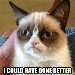 Grumpy Cat  - i could have done better