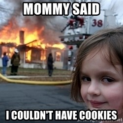Disaster Girl - mommy said i couldn't have cookies