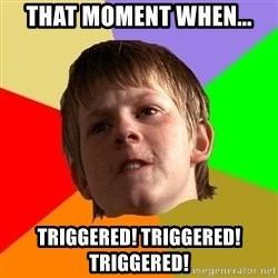 Angry School Boy - That moment when... Triggered! Triggered! Triggered!