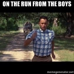 run forest - on the run from the boys