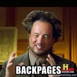 History guy - BACKPAGES