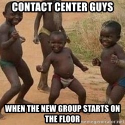 african children dancing - CONTACT CENTER GUYS WHEN THE NEW GROUP STARTS ON THE FLOOR