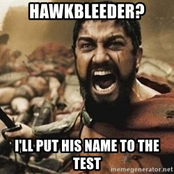 300 - Hawkbleeder? I'll put his name to the test