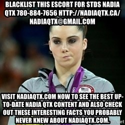 Not Impressed McKayla - blacklist this escort for stds NADIA QTX 780-884-7656 http://nadiaqtx.ca/  nadiaqtx@gmail.com Visit nadiaqtx.com now to see the best up-to-date Nadia QTX content and also check out these interesting facts you probably never knew about nadiaqtx.com.
