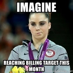 Not Impressed McKayla - Imagine reaching billing target this month