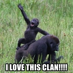 Happy Gorilla - I LOVE THIS CLAN!!!!