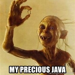 Gollum with ring - My precious Java