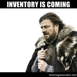 Winter is Coming - inventory is coming