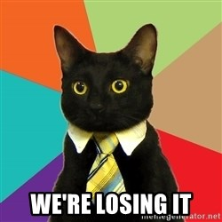 Business Cat - we're losing it