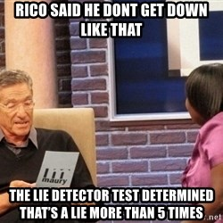 Maury Lie Detector - Rico said he dont get down lIke that The lie detector test determined that's a lie more than 5 times