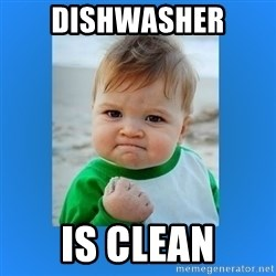 yes baby 2 - dishwasher is clean