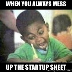 Black kid coloring - when you always mess up the startup sheet