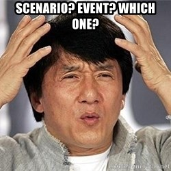 Confused Jackie Chan - Scenario? Event? WHich one?