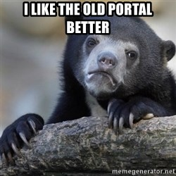 Confession Bear - i like the old portal better