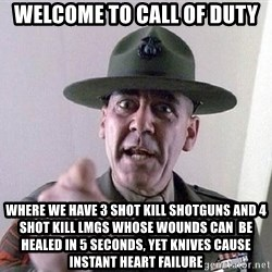 Military logic - Welcome to call of duty where we have 3 shot kill shotguns and 4 shot kill LMGs whose wounds can  be healed in 5 seconds, yet knives cause instant heart failure