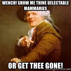 Joseph Ducreux - Wench! Show me thine delectable mammaries Or get thee GONE!
