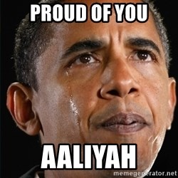 Obama Crying - PROUD OF YOU AALIYAH