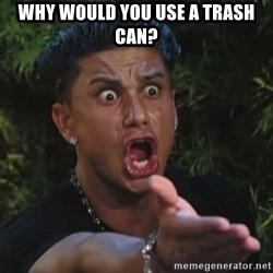 Pauly D - Why would you use a trash can?