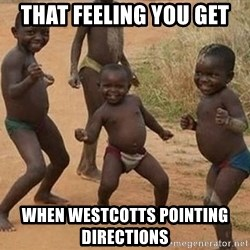 Dancing African Kid - That feeling you get When Westcotts pointing directions