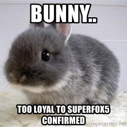 ADHD Bunny - Bunny.. Too loyal to Superfox5 confirmed