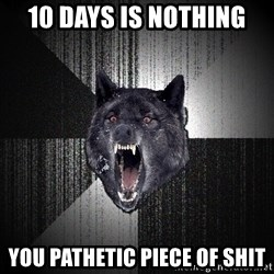 Insanity Wolf - 10 days is nothing you pathetic piece of shit