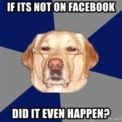 Racist Dog - If its not on facebook did it even happen?