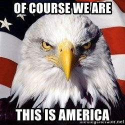 American Pride Eagle - Of course we are  This is america