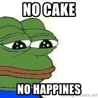 Sad Frog - No cake no happines