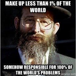 Like-A-Jew - Make up less than 1% of the world Somehow responsible for 100% Of the world's problems