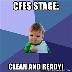 Success Kid - CFES Stage: Clean and ready!