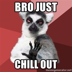 Chill Out Lemur - Bro just  Chill out