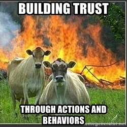 Evil Cows - BUILDING TRUST THROUGH ACTIONS AND BEHAVIORS