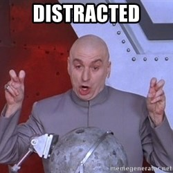 Dr. Evil Air Quotes - distracted