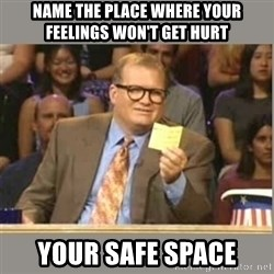 Welcome to Whose Line - Name the place where your feelings won't get hurt Your safe space