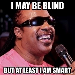 stevie wonder - I may be blind  but at least I am smart