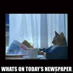 i should buy a boat cat - whats on TODAY'S newspaper
