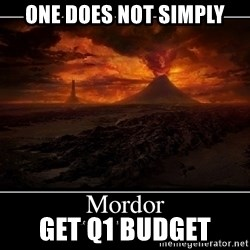 Lord Of The Rings Boromir One Does Not Simply Mordor - One does not simply get q1 Budget