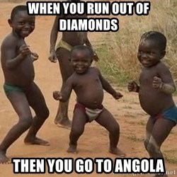 Dancing African Kid - when you run out of diamonds then you go to Angola