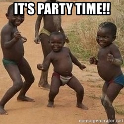 Dancing african boy - It's party time!!