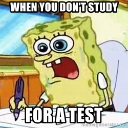 Spongebob What I Learned In Boating School Is - When you don't study for a test