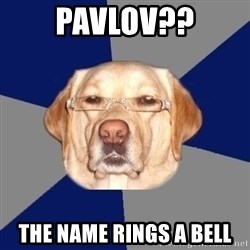 Racist Dog - Pavlov?? The name rings a bell