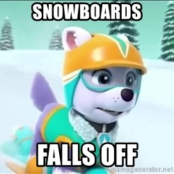 Bad Luck Everest  - Snowboards Falls off