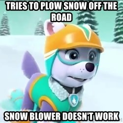 Bad Luck Everest  - Tries To plow snow off tHe road Snow blower Doesn't work