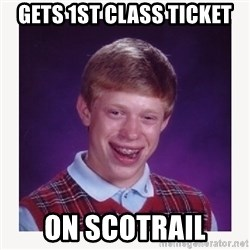 nerdy kid lolz - Gets 1st class ticket On scotrail