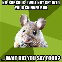 Prospective Museum Professional Mouse - no, Burrhus, i will not get into your skinner box ... wait did you say food?